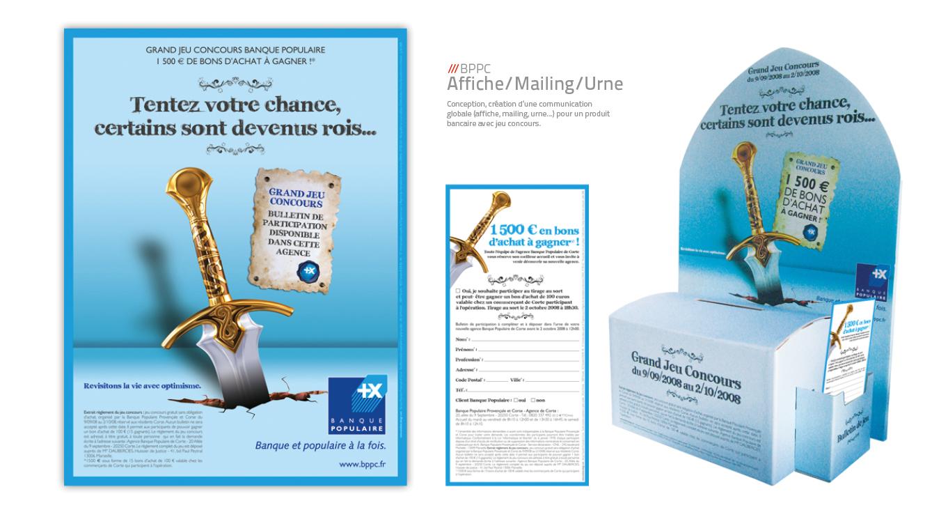 Banque populaire BPPC - Affiche, mailing & urne