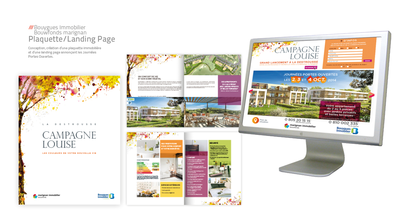 Bouygues immobilier - plaquette & landing page