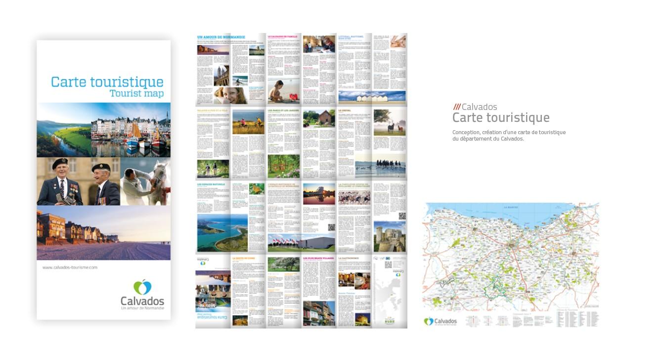 Calvados - carte touristique