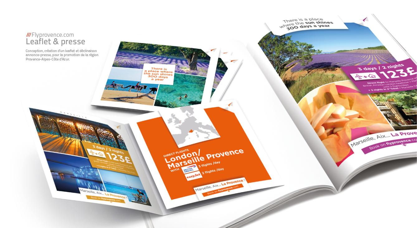 Flyprovence.com - Leaflet & presse