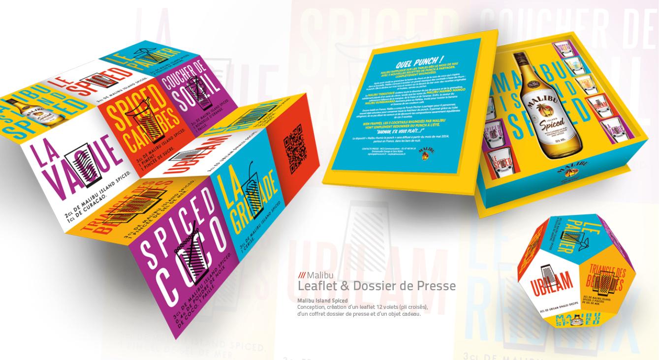 Malibu - dossier de presse & leaflet